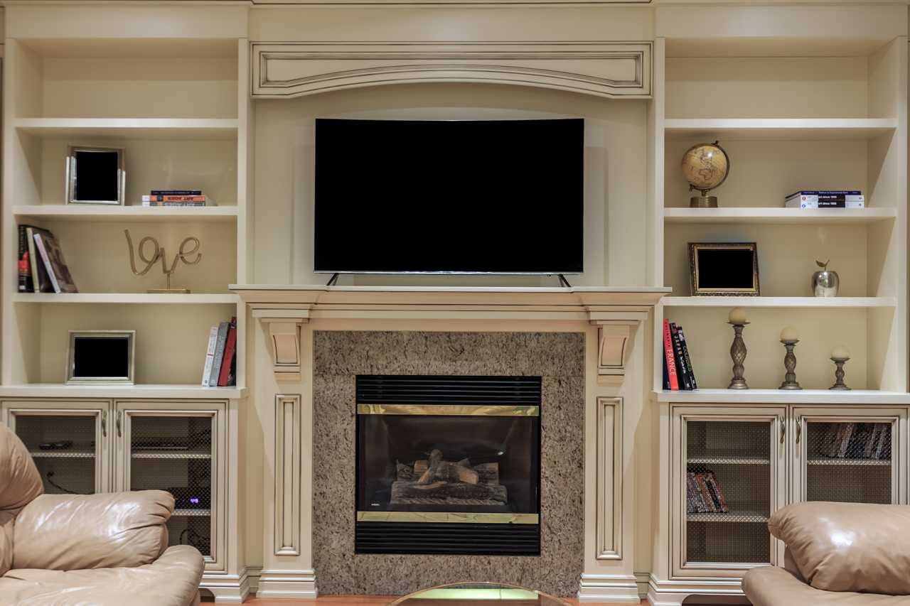 traditional wall unit Fireplace 9
